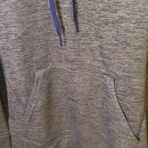 adidas Tops - Adidas heathered blue hoodie